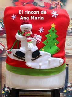 Christmas Santa Claus Chair Back Cover Snowman Elk Ski Dinner Table Party Decor merry christmas navidad Number: Christmas Backrest Chair Coveris_customized: YesUsage: ChairMaterial: CottonBrand Name: LAIMALAName: Decor Chairs CoverPlace of Christmas Items, Christmas Snowman, Red Christmas, Christmas Stockings, Christmas Crafts, Christmas Decorations, Holiday Decor, Chair Back Covers, Chair Backs
