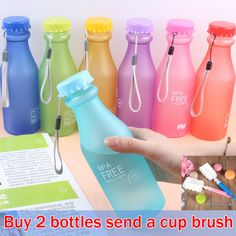 wholesale 550ML my bottle Candy Colord Portable Leak-proof Water Bottle Sport Plastic Lemon Juice Cup Drinkware BPA Free #>=#>=#>=#>=#> Click on the pin to check out discount price, color, size, shipping, etc. Save and like it!