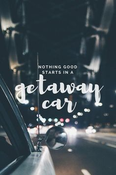 "GETAWAY CAR by TAYLOR SWIFT ""Because us traitors never win I'm in a getaway car I left you in a motel bar Put the money in the bag and I stole the keys That was the last time you ever saw me"""