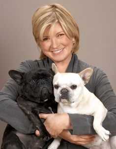 Martha Stewart is pictured with her French Bulldogs Francesca and Sharkey, in this Oct. Best Dog Names, Best Dogs, Celebrity Dogs, Pet News, Mans Best Friend, Martha Stewart, I Love Dogs, Puppies, French Bulldogs
