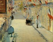 "Rue Mosnier with Flags 1878 -  Edouard Manet     Manet said: ""It is not enough to know your craft - you have to have feeling. Science is all very well, but for us imagination is worth far more."""