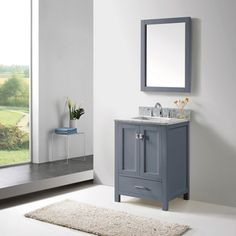 Picture Collection Website Virtu Caroline Avenue inch Grey Single Bathroom Vanity Cabinet Set