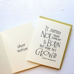 matters not what someone is born - Harry Potter Birthday Card Dumbledore Quote, Happy Birthday or Blank for Graduation Handmade Card Harry Potter Birthday Quotes, Harry Potter Bday, Birthday Quotes For Best Friend, Birthday Cards For Friends, Friend Birthday, Birthday Wishes, Card Birthday, Birthday Nails, Husband Birthday