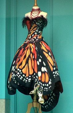Luly Yang - Monarch butterfly dress