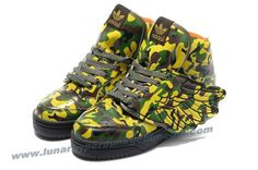 Adidas X Jeremy Scott Wings Camo Shoes For Sale