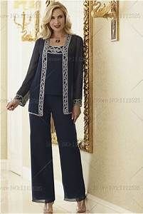 2014 mother of the bride pant suits Plus Size With jacket ...