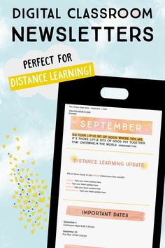 These digital classroom newsletters are perfect for distance learning and beyond! They are editable, mobile-friendly, and very flexible. Download includes PowerPoint, Google Slides, and MailChimp templates. >> Fast and easy parent communication! Canvas Learning Management System, Classroom Management, Classroom Newsletter Template, Newsletter Templates, Learning Tools, Learning Resources, Parent Resources, Teaching Technology, Teaching Math