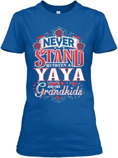 YAYA AND HER GRANDKIDS ~ V-Neck And Women's Tees