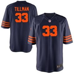 Nike Charles Tillman Chicago Bears Youth Throwback Game Jersey - Navy Blue