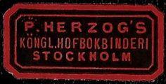 + Early Era Stockholm Sweden P.Herzogs Envelope Label Seal