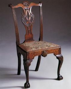 Philadelphia Chippendale side chair.