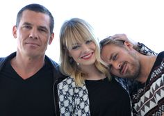From left, actor Josh Brolin, actress Emma Stone, and actor Ryan Gosling from the cast of 'Gangster Squad,' pose for a portrait at the Four Seasons Hotel on Saturday, Dec. 15, 2012, in Beverly Hills, Calif. (Photo by John Shearer/Invision/AP) via @AOL_Lifestyle Read more: http://www.aol.com/article/2016/04/14/eva-mendes-is-pregnant-with-baby-no-2/21344519/?a_dgi=aolshare_pinterest#fullscreen
