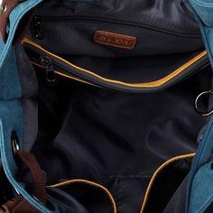 Kaylena Women's Water Resistant Blue Canvas Shoulder Bag[2way]