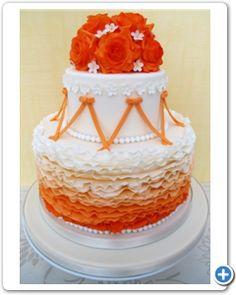 Oranje bruidstaart