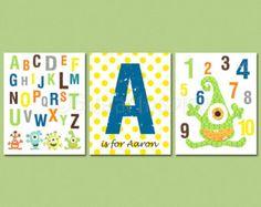 monsters inc nuresery alphabet - Google Search