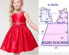 Vestidos festa infantil princesas - Moldes Moda por Medida