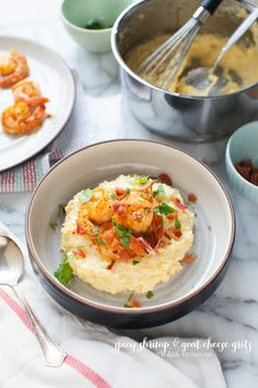 Spicy Shrimp and Grits from http://thelittlekitchen.net @The Little Kitchen