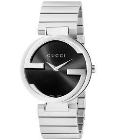 ab323879e67 Gucci Unisex Swiss Interlocking Stainless Steel Bracelet Watch 37mm  YA133307   Reviews - Watches - Jewelry   Watches - Macy s. Gucci ShopBuy ...