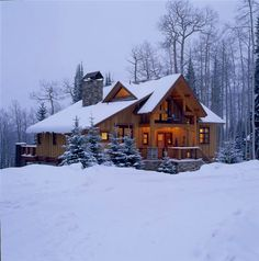 Custom log homes Winter Cabin, Cozy Cabin, Beautiful Homes, Beautiful Places, Log Cabin Homes, Log Cabins, Getaway Cabins, Style Deco, Craftsman Style Homes