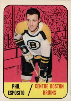 Hockey Cards, Baseball Cards, Phil Esposito, Boston Bruins Hockey, Pictures, Photos, Grimm