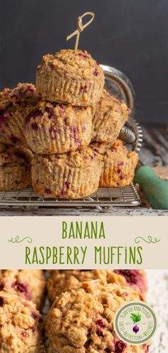 These Banana Raspberry Muffins are bursting with pockets of tart raspberry, and are gluten free and vegan. Cranberry Oatmeal Muffins, Raspberry Muffins, Pumpkin Spice Muffins, Sprouted Grain Bread, Plant Based Breakfast, Gluten Free Banana, Delicious Vegan Recipes, Healthy Recipes, How To Make Bread