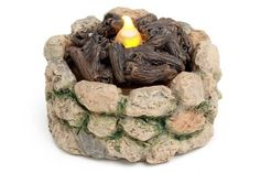 Miniature Dollhouse FAIRY GARDEN ~ Cobblestone Light-Up Firepit ~ NEW in Home & Garden, Home Décor, Figurines | eBay