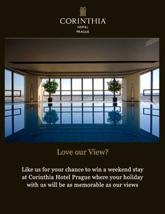 Corinthia Hotel Prague, share your view and you could win a weekend stay Luxury Travel, Prague, This Is Us, How To Memorize Things, Lifestyle, Outdoor Decor