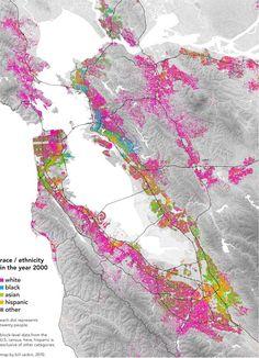 Bay Area Race/Ethnicity Map 2000