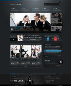 dark business web design