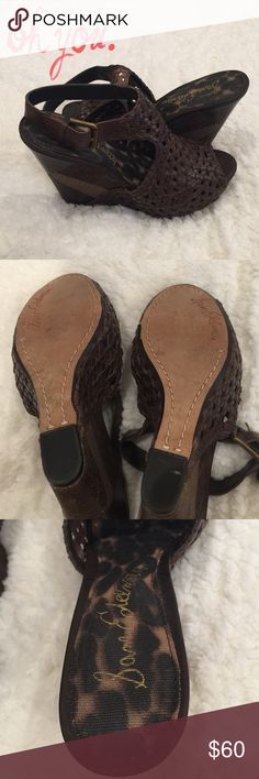 AMAZING brown patch Sam Edelman wedges Beautiful brown and gold patchwork authentic wedges by Sam Edelman. EUC - worn once. The perfect year round wedge! Sam Edelman Shoes Wedges