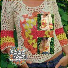 Sweter De Hilo Tejido Al Crochet - $ 680,00