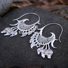 ☮ American Hippie Bohemian Style ~ Boho Jewelry .. Silver Earrings