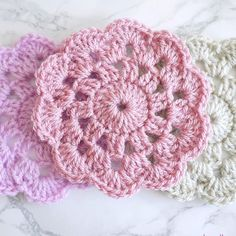 #flashbackfriday #ff to these cute crochet coasters! They would make lovely Christmas presents! #crochet #crochetuk #crocheters #crochetgeek #bellacococrochet