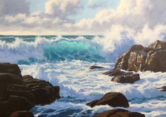 How to Paint a Dramatic Seascape in 5 Easy Steps Acrylic Painting Lessons, Painting Videos, Painting Tips, Painting Techniques, Painting Tutorials, Watercolour Painting, Painting Art, Art Tutorials, Watercolors
