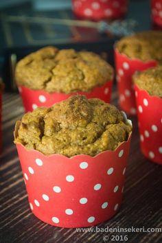 Balkabaklı Unsuz & Şekersiz Muffin – Bade'nin Şekeri