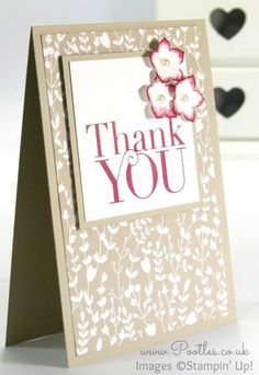 Pootlers Blog Hop Something Borrowed Thank You Card; Petite Petals, Another Thank You
