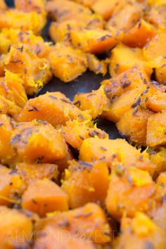 How To Make Roast Pumpkin Chunks - A quick and easy roast pumpkin recipe that can be used in countless recipes! Nutty and peppery flavors of the cumin seeds penetrate the flesh of the pumpkin to give it a more complex flavor!!