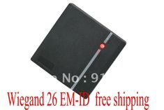 Free Shipping +low cost +EM rfid reader + 125khz+ wiegand 26 output access control + waterproof