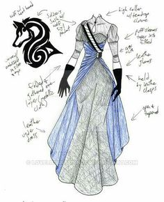 Would make a good bodice belly accessory to wear with any top MHcd - Hound of Hell by on DeviantArt- instead of hound, dragon design and red instead of blue Illustration Mode, Illustrations, Anime Dress, Dress Drawing, Dress Sketches, Fantasy Dress, Fashion Design Sketches, Character Outfits, Anime Outfits