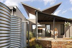 Butterfly House by Zen Architects Melbourne. Beautiful execution with eco roof angles and clerestory windows.