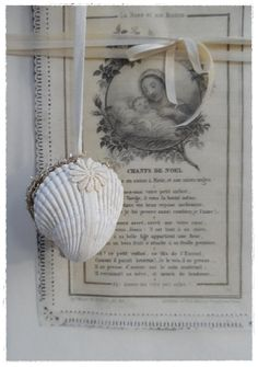 Seashell Shell Locket Gift Box Ornament Antique by LoveEmbellished