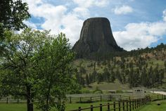 The Devil's Tower National Monument, Wyoming. While driving, we could see it for miles & miles before actually getting there.