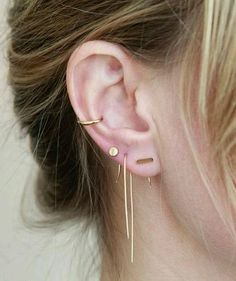 Multiple ear piercing. Keeping it classy and edgy