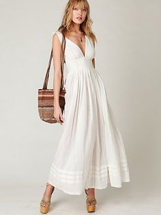 LOVE the sleeves and the cut...everything....price decent for it being so adorable!!! Threaded Lurex Maxi Dress, $128