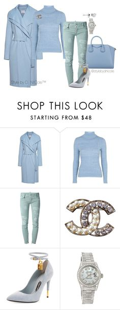 """""""Untitled #3116"""" by stylebydnicole ❤ liked on Polyvore featuring Vince, Givenchy, Topshop, Dsquared2, Chanel, Tom Ford, Rolex, women's clothing, women's fashion and women"""