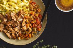 Photo de la recette de Braisé de porc à l'oignon Vidalia caramélisé et à la moutarde