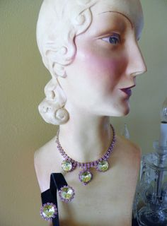 Julianna Necklace and Earirngs by veryfrenchbydesign on Etsy