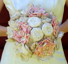 Bridal Bouquet Weddings Chic and Shabby by AutumnandGraceBridal, $275.00