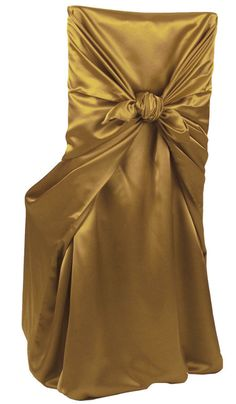 Classic, elegant and suitable for any chair, outfit your party in this ever-popular, distinctively textured, reflective linen that has been beautifully draped and tied in back. Divine in rich variety colors in your choice of Shantung or Charmeuse