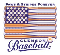 American Flag with Clemson Baseball...If I find this, I will have to buy it!